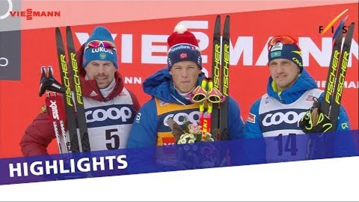 Klaebo returns on top of the podium in Men's Pursuit at Toblach | Highlights