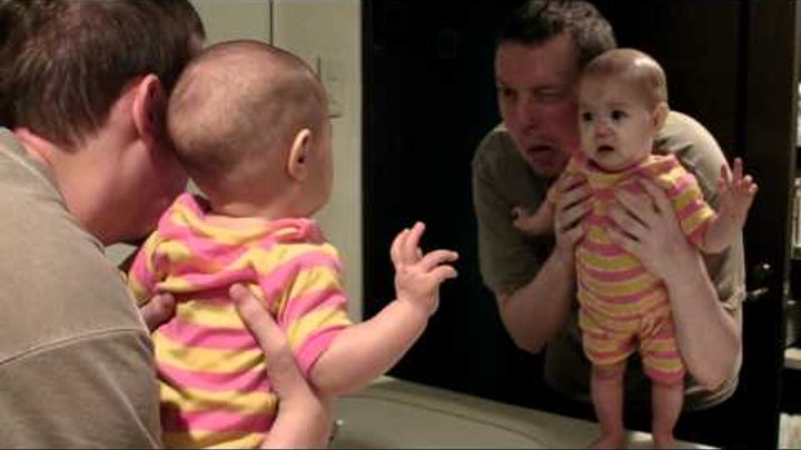 Baby Sees Mirror for First Time