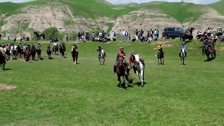 Buzkashi Game in Tajikistan (Hisor) April 2013