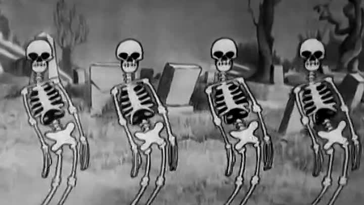 Танец скелетов / The Skeleton Dance (Уолт Дисней) (1929)