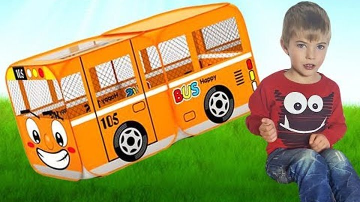 Wheels On The Bus Song Funny Playground for kids and Nursery Rhymes Songs