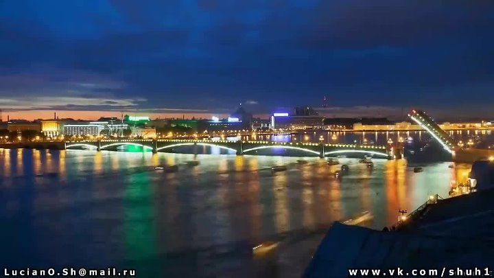 Санкт - Петербург белая ночь - Saint Petersburg timelapse
