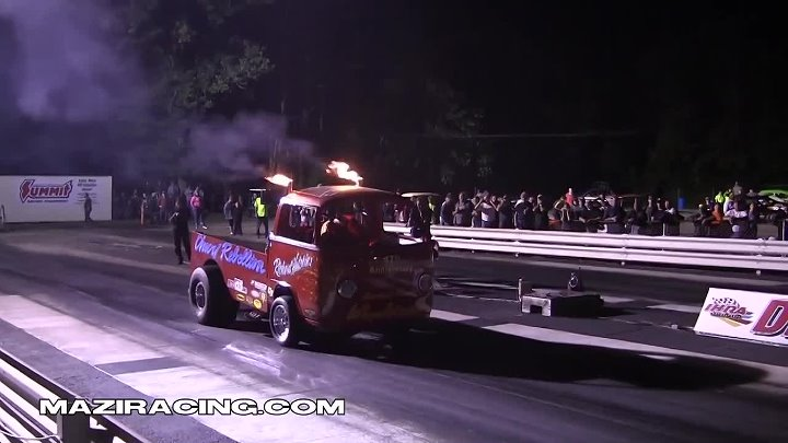 2013 Rock and Race Richard Hutchins Chevy Rebellion Wheelstander Nostalgia Drag Racing