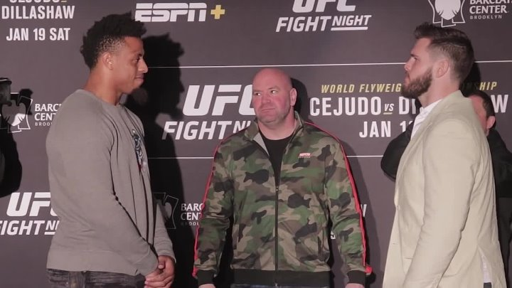 Greg Hardy vs. Allen Crowder Face Off _ UFC on ESPN 1 Media Day