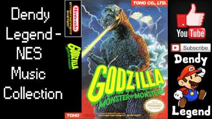 Godzilla: Monster of Monsters NES Music Song Soundtrack - Unused 3 [HQ] High Quality Music