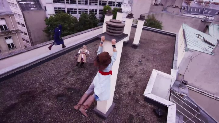Assassin s Creed Unity Meets Parkour in Real Life - 4K!
