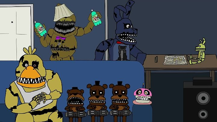 Five House Parties at Freddy's (A Five Nights at Freddy's 4 Animation)