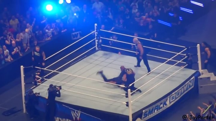 The shield attacks the Undertaker, DX & Fanangoing