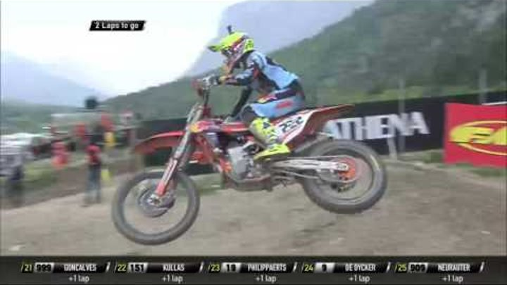 MXGP of Trentino race 2 Antonio Cairoli passes Jeffrey Herlings and Evgeny Bobryshev #Motocross