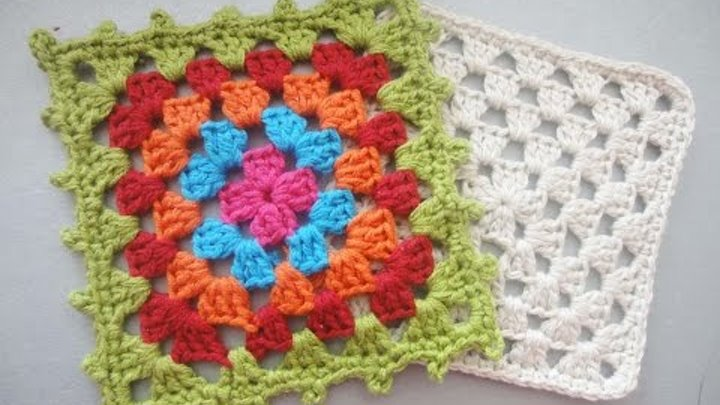 "Бабушкин квадрат ""Grandmother"" square Crochet"