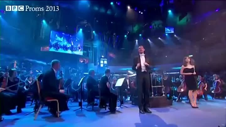 The Doctor appears at the conductor-u0027s podium - Doctor Who Prom - BBC Proms 2013 - Radio 3