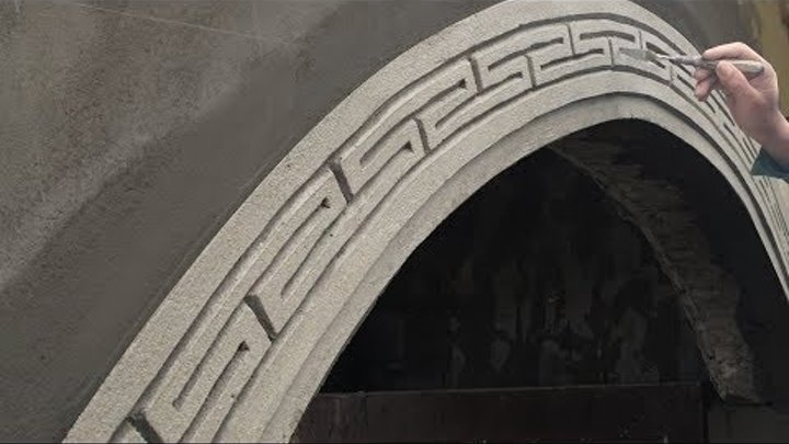 arch construction( NICE CURVE ) - step by step - rendering sand and cement -