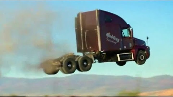 Can trucks fly? Stunt - Jump Compilation of trucks