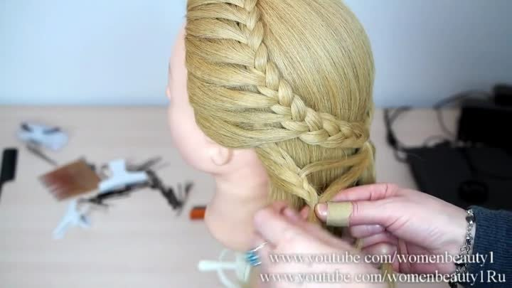 Hairstyles for long hair. Butterfly braid. Hairstyles for everyday.
