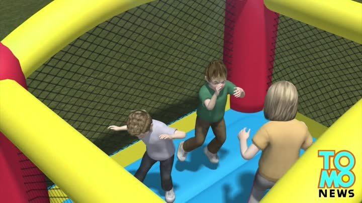 Bouncy castle terror: Kids seriously injured after freak wind gust takes inflatable into the air
