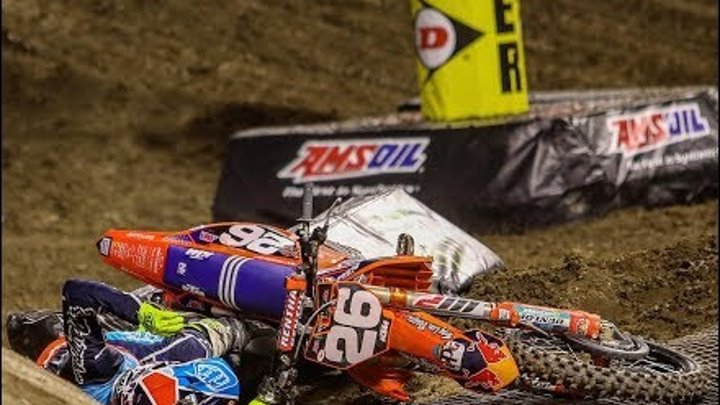 Ama Supercross 2018 Crashes #1