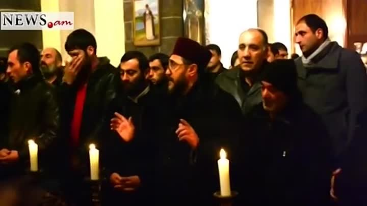 Requiem of the killed family members in Gyumri