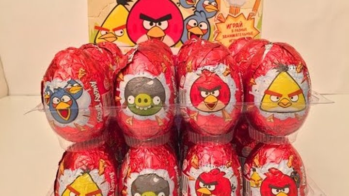 24 Surprise Eggs Angry Birds,Киндер Яйца Сюрприз Энгри Бёрдс от Конфитрейд на русском