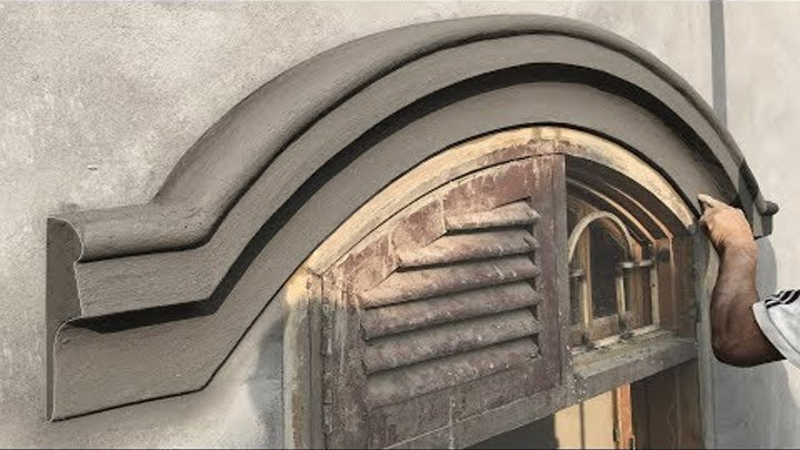 *NICE CURVE & NEW TOOL* Amazing Construction skills - Sand and cement Rendering- construction