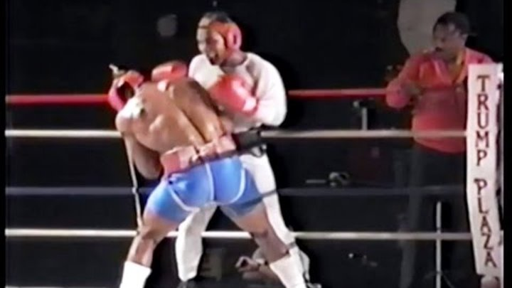 Mike Tyson TNT Sparring McCall - Joe Frazier Watches Part 1
