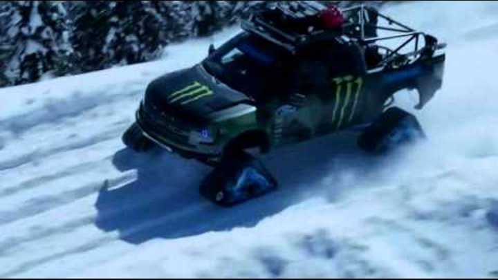 Italo disco. D.White - Follow Me. 2015 remix. Ken Block Drift snow truck
