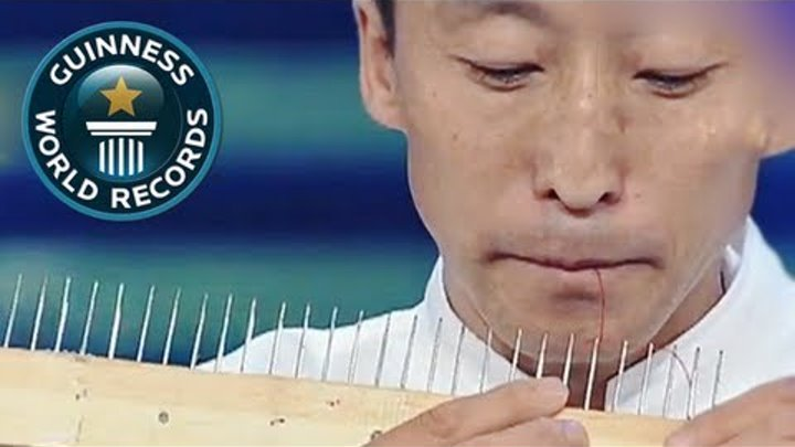 Most needles threaded with the mouth in one minute -- GWR Video of the Week 18th Jan