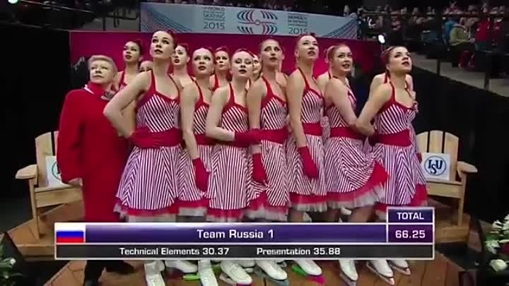 2015 World Synchro Champs SP Team Russia 1