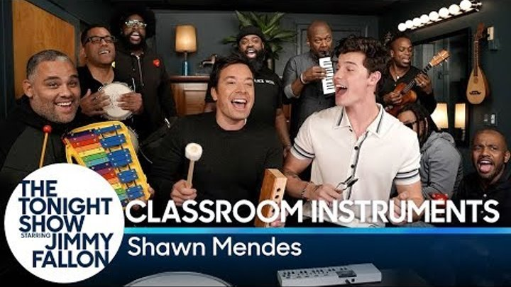 """Jimmy Fallon, Shawn Mendes & The Roots Sing """"Treat You Better"""" (Classroom Instruments)"""