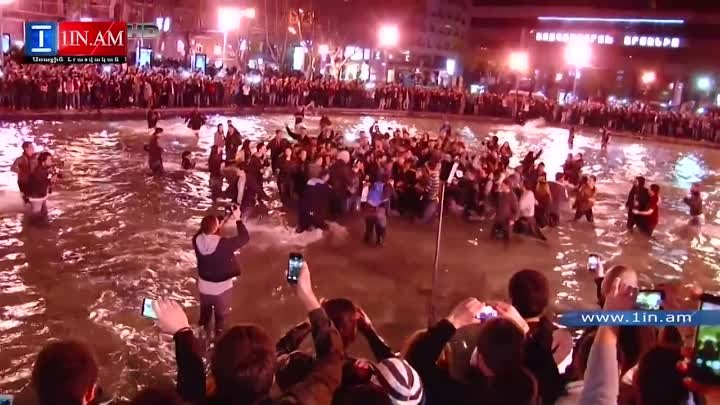 Kanye West Jumps into the Swan Lake During Yerevan Concert - Armenia, April 13, 2015