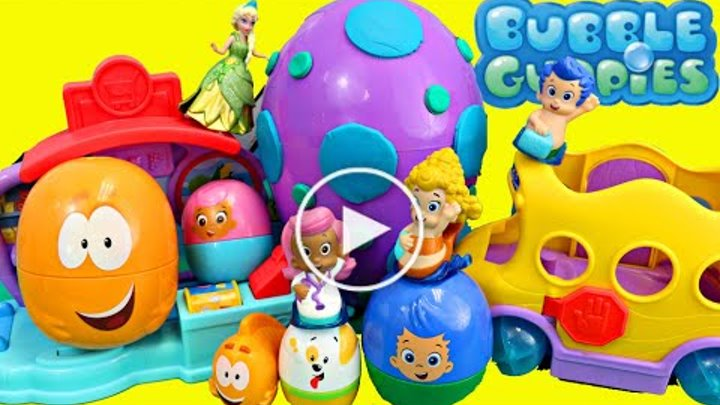 Bubble Guppies Stacking Cups with Maxi Kinder Surprise Eggs Baby Toy01