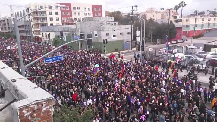 Armenian Genocide 100th Anniversary Protest March - Los Angeles