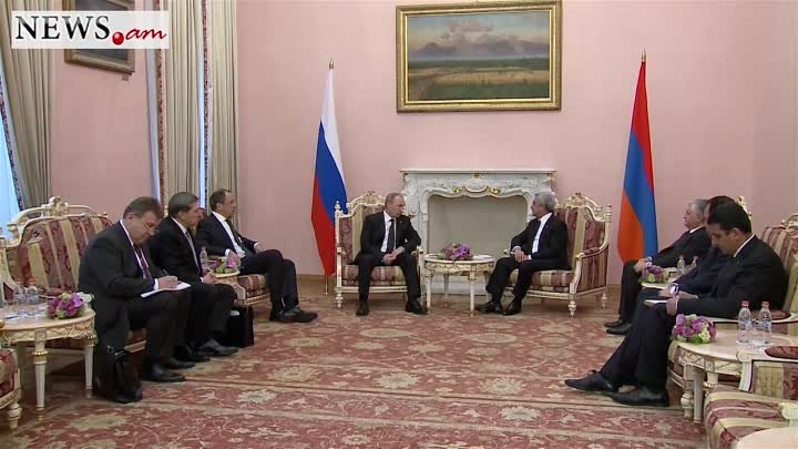 Serzh Sargsyan and Vladmir Putin meet in Yeravan