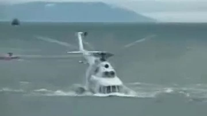 Russian Mi 8 Take off from water