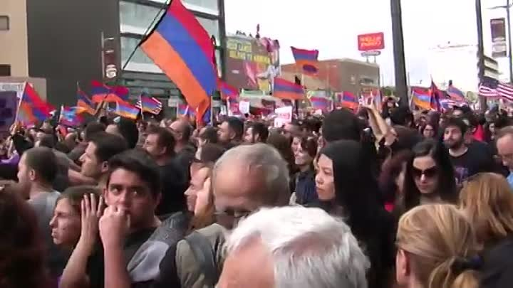 Armenian Genocide Centennial March for Justice on April 24, Los Angeles, CA