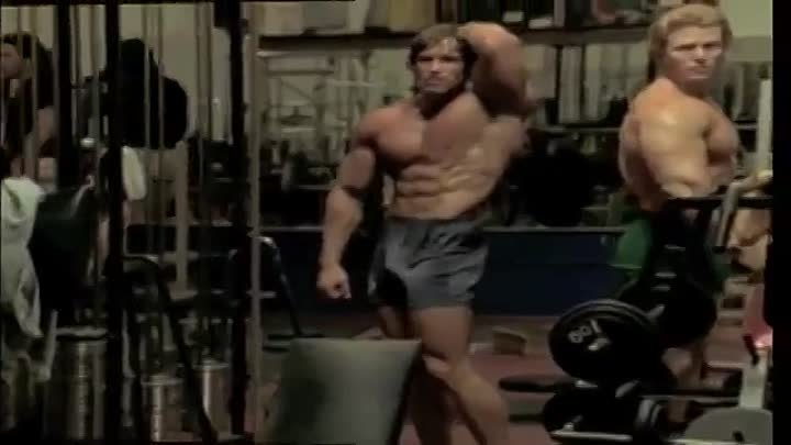 Bodybuilding - Arnold Schwarzenegger Training - Mr Olympia 1976.mp4