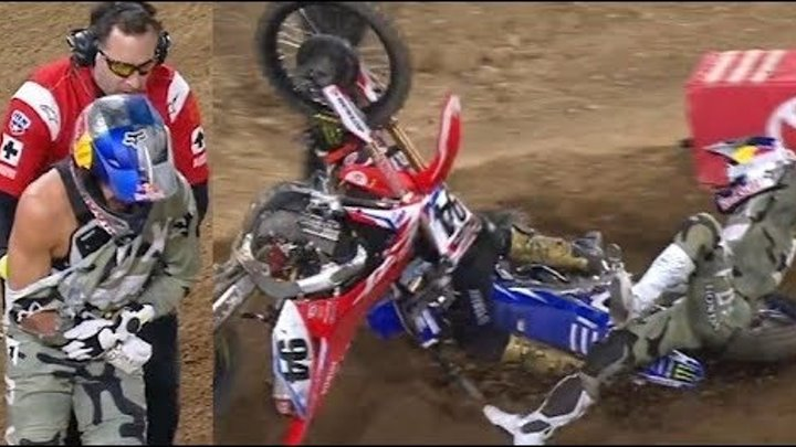 The Biggest Supercross Crashes of 2018!