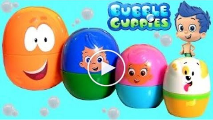 Bubble Guppies Stacking Cups Original Kinder Surprise Eggs Toys