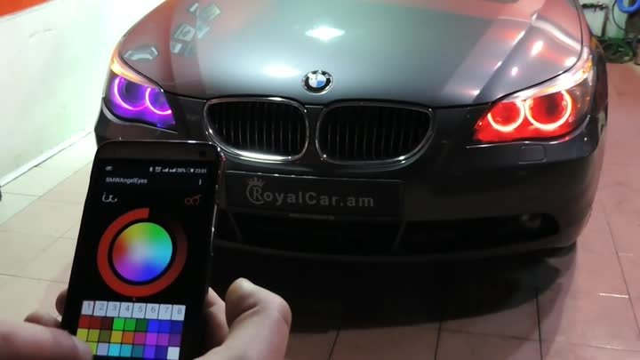 BMW color changing angel eyes, headlights
