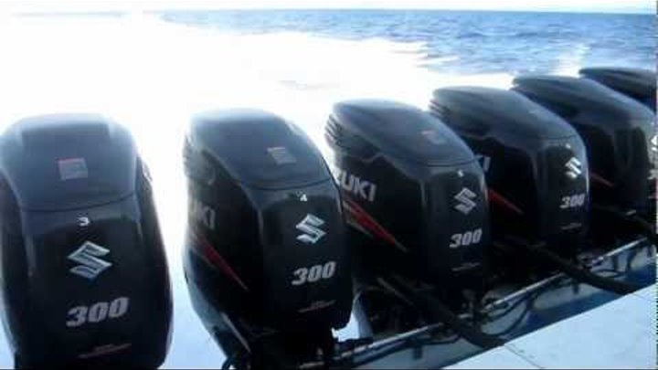 8 X 300 HP Suzuki outboard - From Gili to Bali whit 60 foot speedboat
