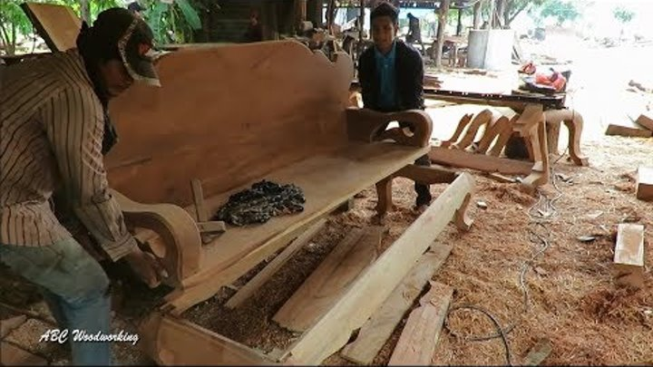 ABC WoodWorking Making Sofa Full Project _ How to make Sofa Full Project 2018