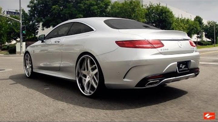 """2016 Mercedes Benz S550 Coupe 24"""" Lexani Forged Wheels"""