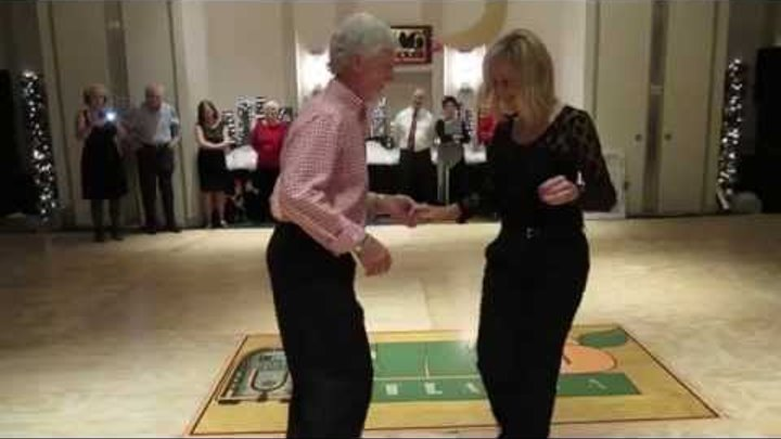Charlie & Jackie Spotlight Dance at ShagAtlanta Christmas Party 2014