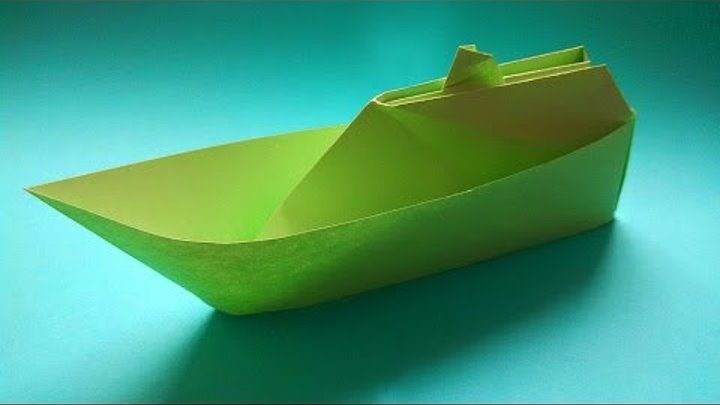 Boat made out of paper ☯ Катер из бумаги