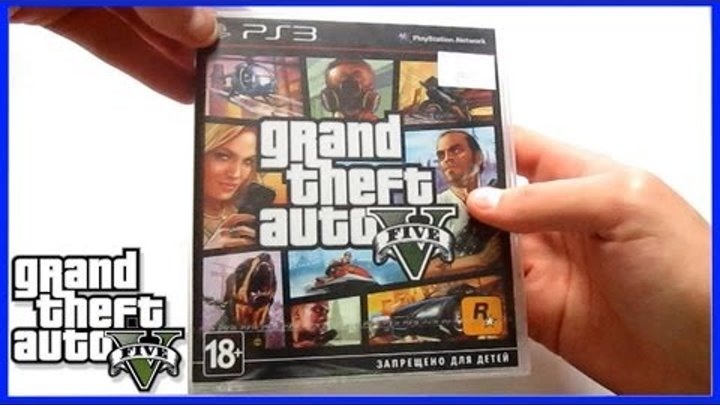 Распаковка GTA 5 Grand Theft Auto V PlayStation 3 PS3 Unboxing