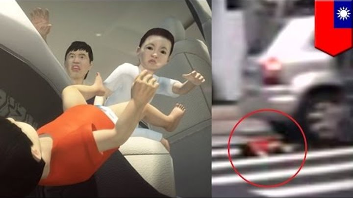 Stupid parent: Baby falls from moving car because he's not in a car seat, doors unlocked - TomoNews