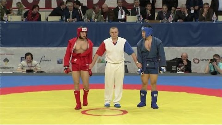 Combat sambo Kharlampiyev memorial 2015 Final fighting weight category 90 kg