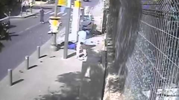 terrorist attack in Israel 13.10.15 Palestinian rams pedestrians with a car and uses an ax to stab