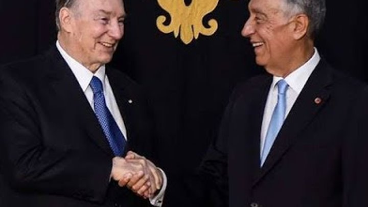 His Highness Prince Karim Aga Khan IV welcomed by Portuguese President Marcelo Rebelo de Sousa