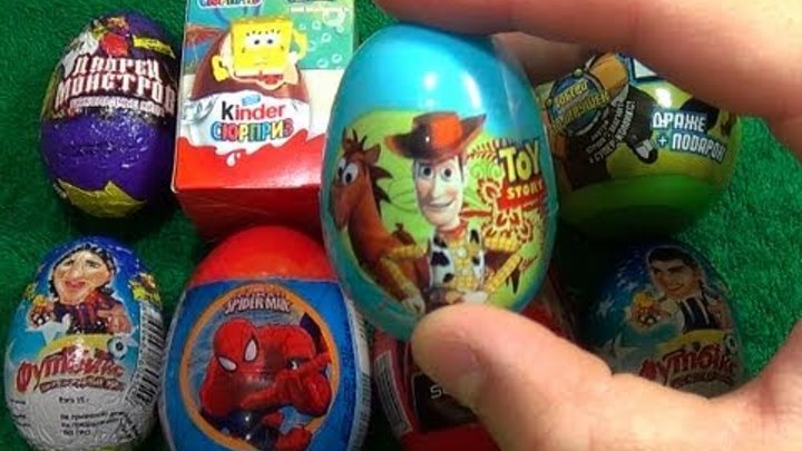 1 of 8 Surprise Eggs Surprise Egg Disney Toy Story Unboxing! Candy Woody and Jessie!