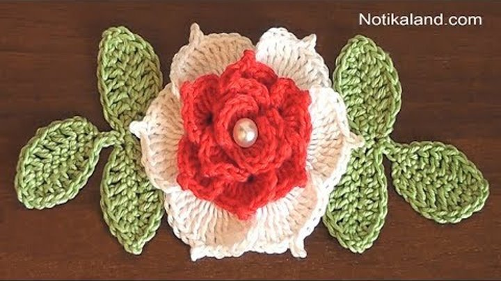 CROCHET rose leaves Tutorial LEAVES crochet beginners